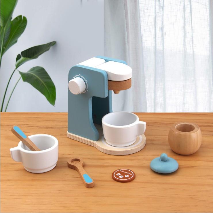 ✹✇เครื่องใช้สำหรับเด็ก เตาอบไมโครเวฟไม้ play house เตาอบ เครื่องผสมกาแฟ ชุดครัวทำอาหาร ของเล่นจำลองสำหรับเด็กชายและเด็กห