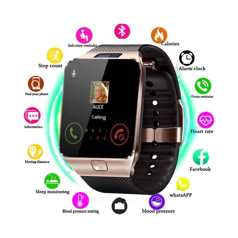 นาฬิกาโทรศัพท์ Smartwatch ใส่ซิม ถ่ายรูป ฟังเพลง รุ่นDZ09