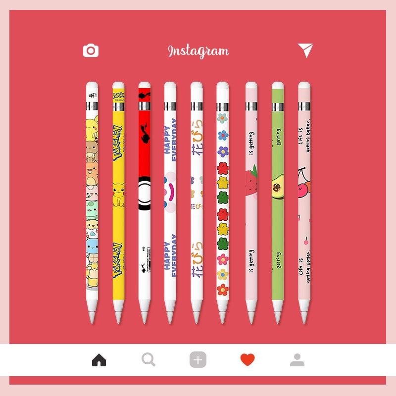 💋พร้อมส่ง💋 เคส Sticker Apple Pencil Case ลาย 3 สติ๊กเกอร์แปะปากกา ลายน่ารักๆ ป้องกันลอย