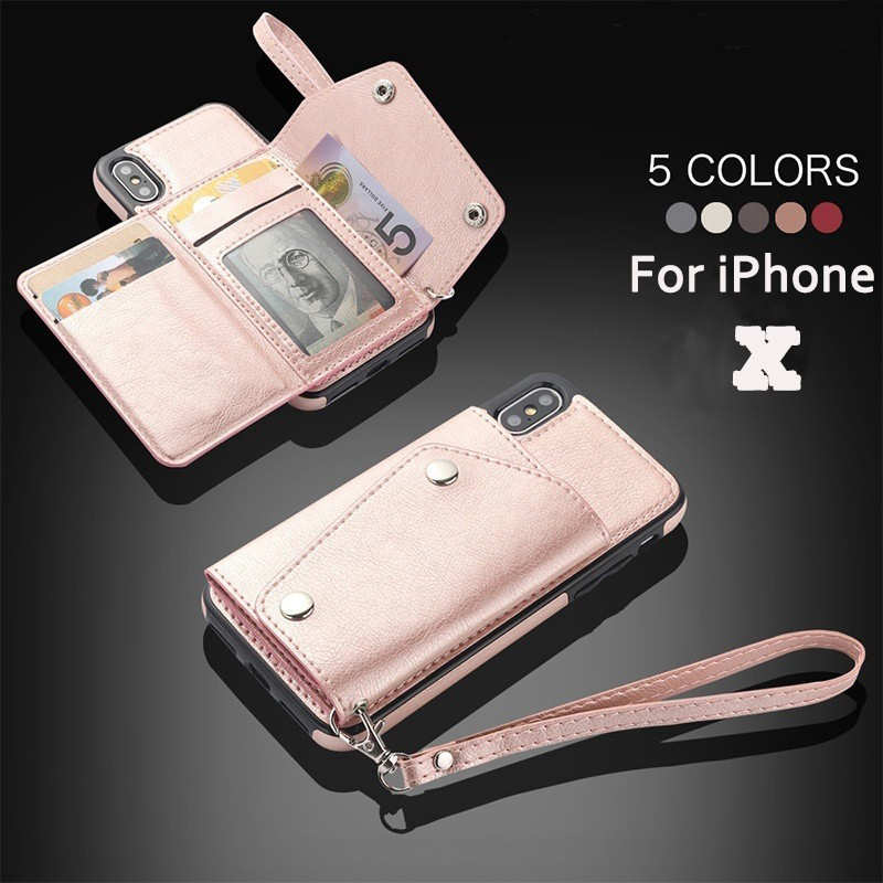 73ae1ee22 เคสไอโฟน Fashion Wallet Leather Phone Case For iPhone X 8 7 6 6S Plus Card  Holder Cover