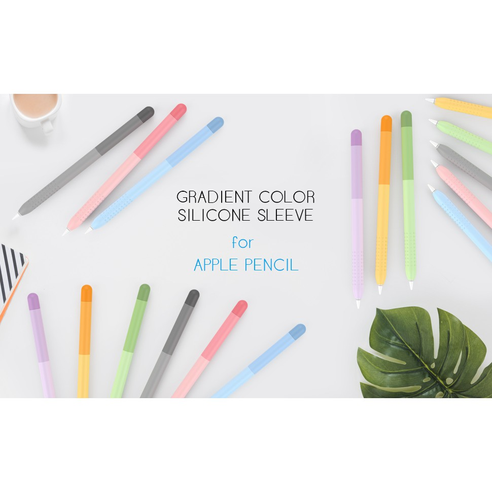 [Ready Stock] Apple Pencil 1/2 Soft Silicone Protective Case Solid Color TPU Cover AHASTYLE UzIx