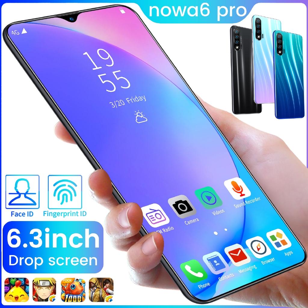 Nowa 6 Pro 8 + 128 Gb 6 . 3 นิ้ว 13 + Hd 4800 Mah Wifi Gps อุปกรณ์หน้าจอแสดงผล