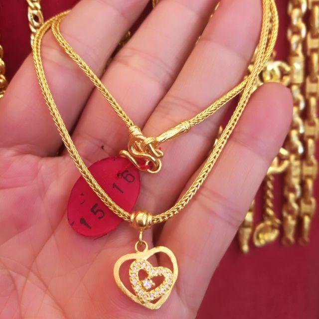 สร้อยคอทองแท้ 96.5% ส่งความรัก ให้กับคนที่คุณรัก ความยาว ไม่รวมจี้ 20cm. ราคา 28,900 บาท