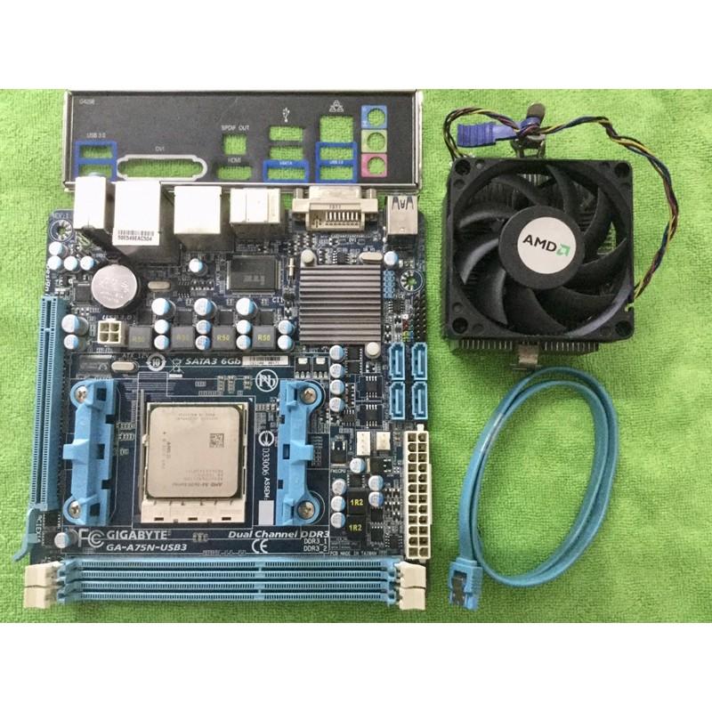 เมนบอร์ด  AMD Gigabyte FM1 ITX + APU A8 3870K
