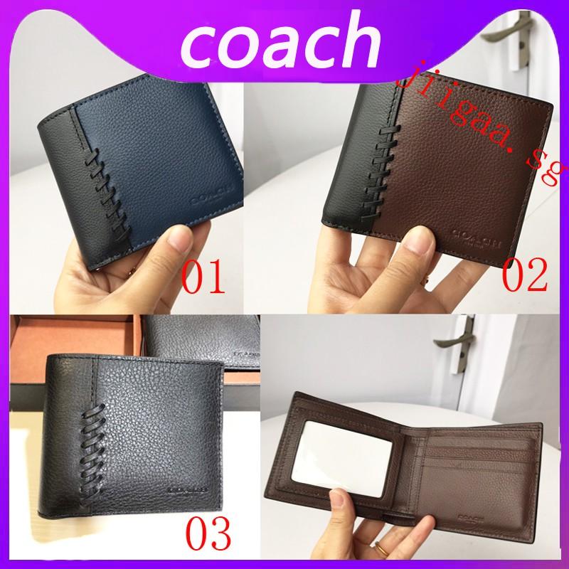 Coach 21371 กระเป๋าสตางค์ใบสั้นสำหรับผู้ชาย