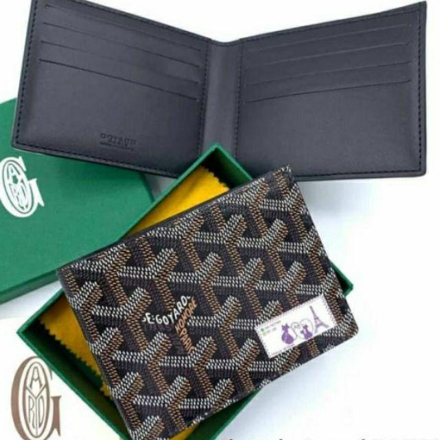 Goyard Men Wallet Victorie 8 card In black(27,500฿ ไม่รวมค่าธรรมเนียม)