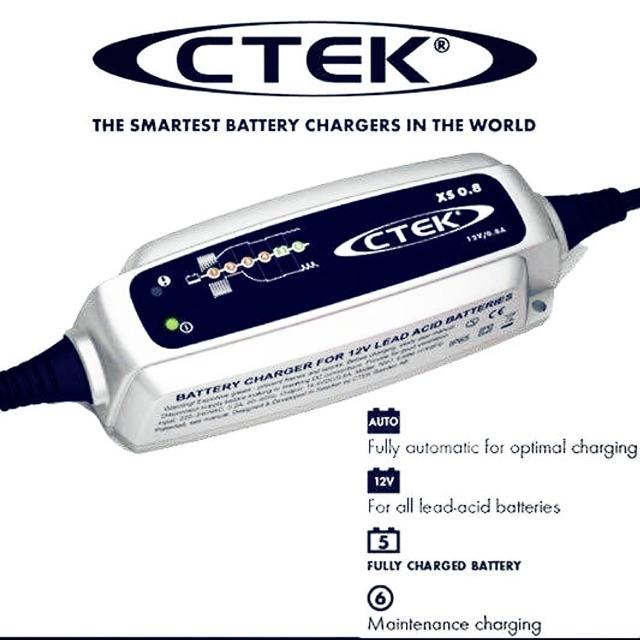 เครื่องชาร์จแบตเตอรี่ Ctek สำหรับรถมอเตอร์ไซค์ Big Bike ทุกรุ่น