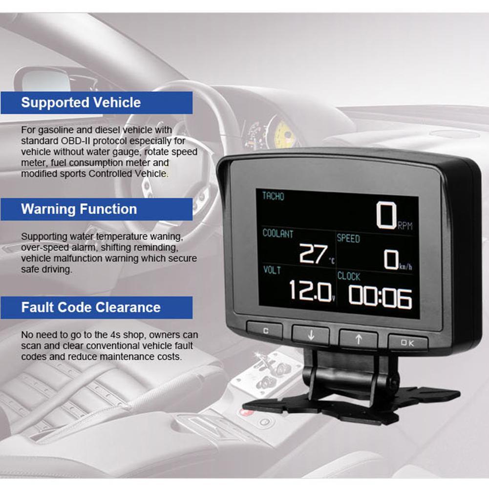 IN STOCK / COD ] autool X 50 Pro OBD II HUD Head Up Display Car