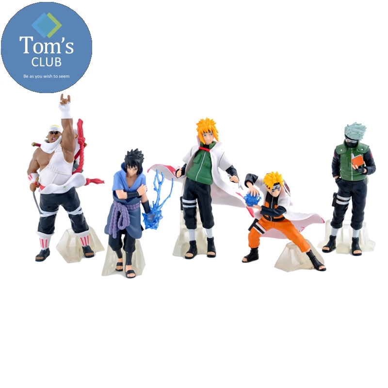 15cm NARUTO Uzumaki Sasuke Kakashi Action Figure Collection Gift 5pcs Set