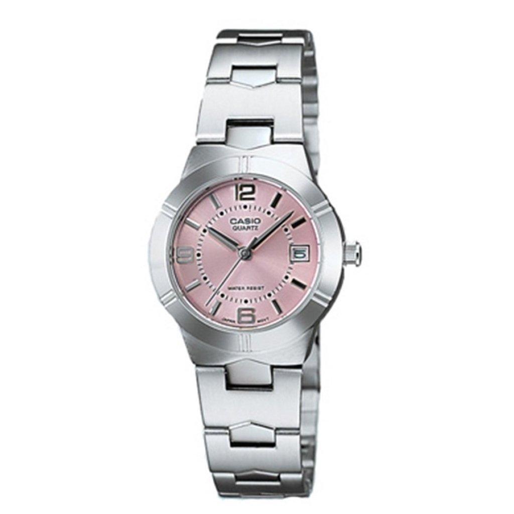 Casio นาฬิกาข้อมือผู้หญิง สายสแตนเลส รุ่น LTP-1241D-4ADF - สีเงิน/ชมพูasio นาฬิกาข้อมือผู้หญิง สายสแตนเลส รุ่น LTP-1241D