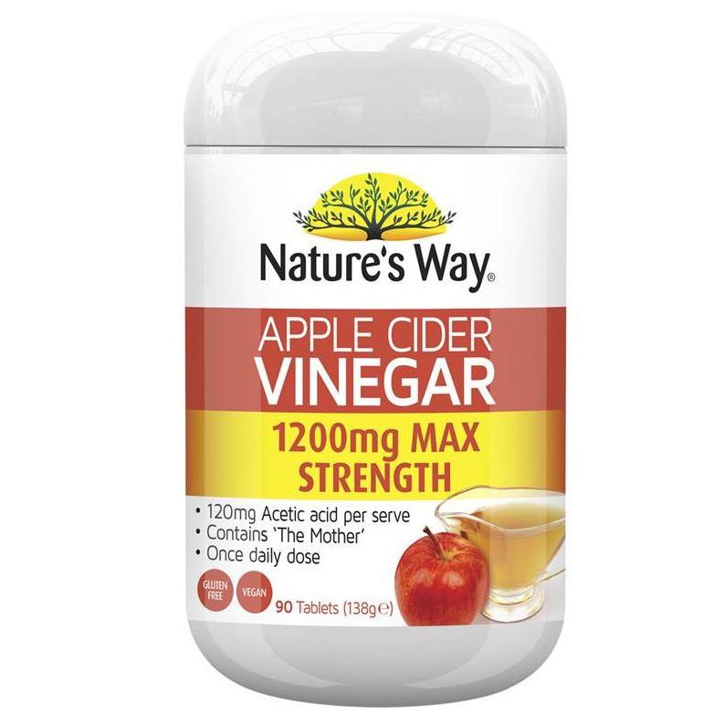 Nature's Way Apple Cider Vinegar 1200mg 90 Tablets