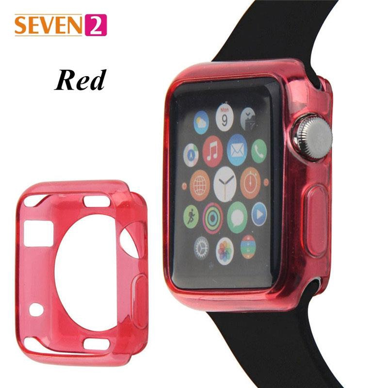 42mm Crystal UltraThin Crystal Silicone Case Cases 6 Colors For Apple Watch