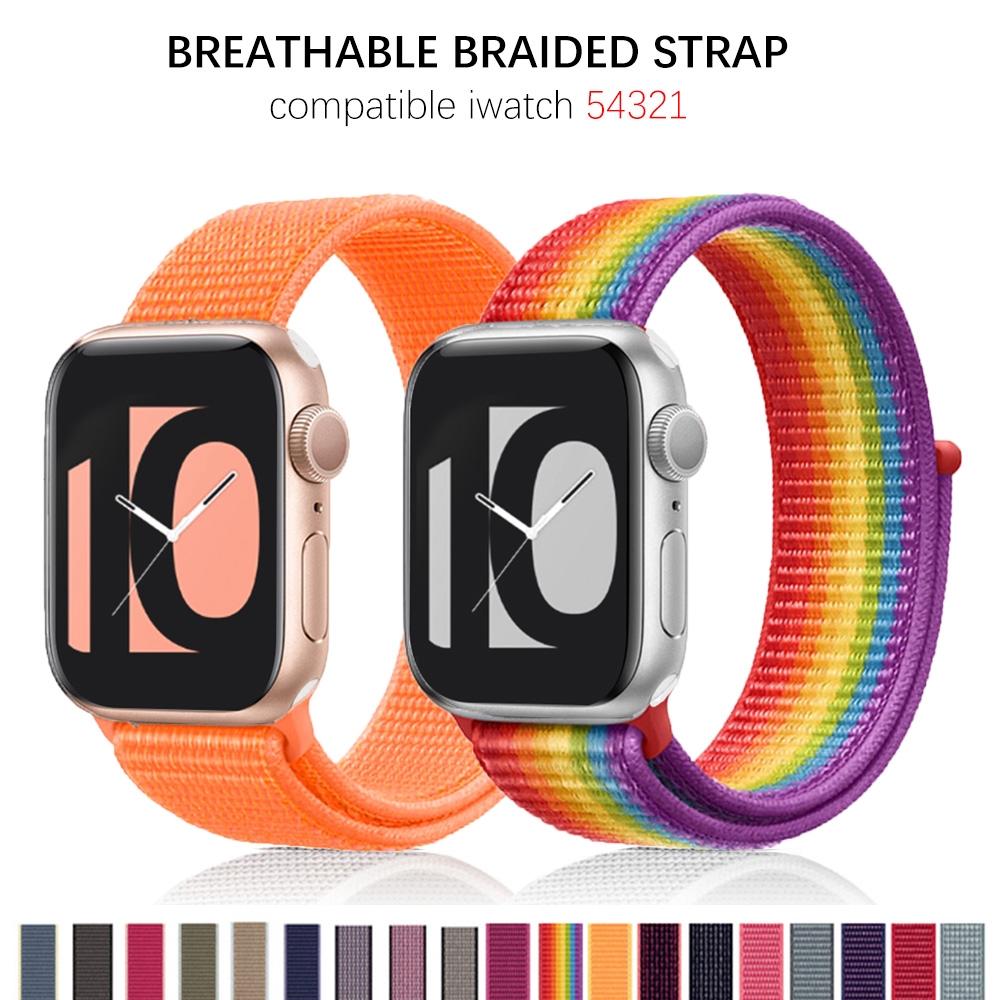 Nylon Band Apple Watch Strap 40mm 44mm iWatch band 38mm 42mm Apple watch series 5 4 3 2 1 Sport loop Strap