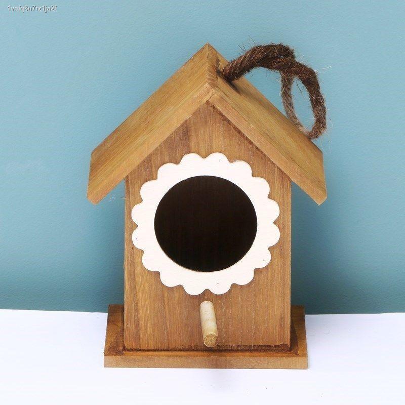 กระเป๋าเป้สัตว์เลี้ยง✳รังนกกล่องเพาะพันธุ์ไม้กลางแจ้ง นกกระจอกบ้านนกตกแต่งรังนกไม้เนื้อแข็งบ้านนกรังนกรังนก
