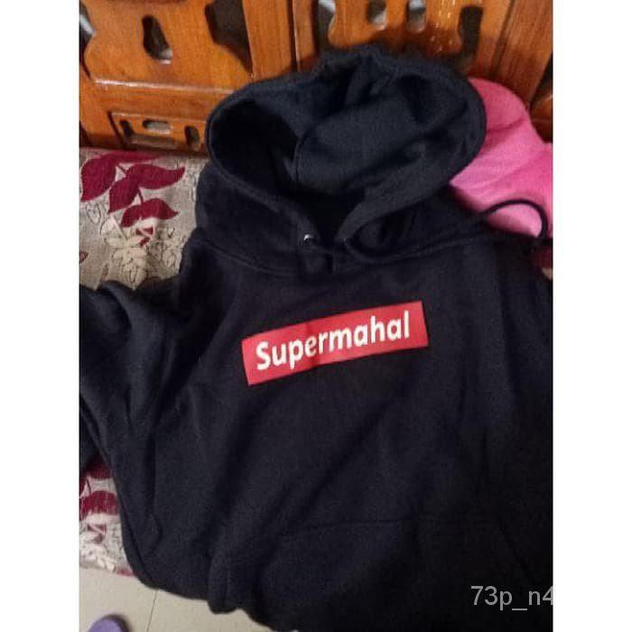 แท้100%เสื้อแจ็คเก็ตเสื้อกันหนาว Distro Supreme Supreme Super Mahal มีหมวก Cjc220