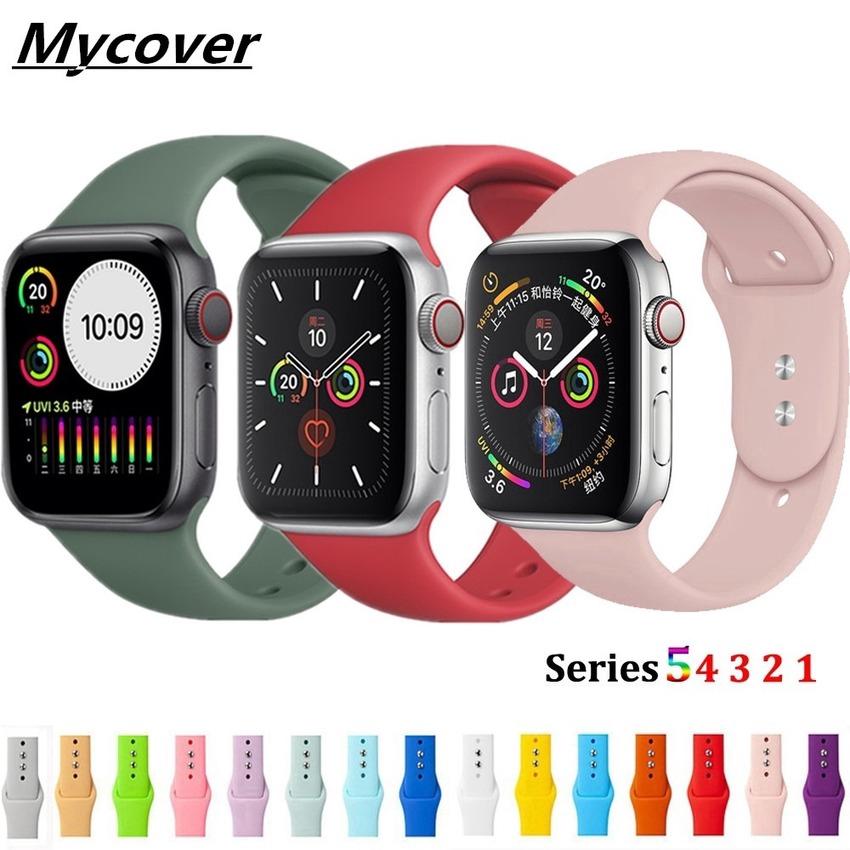 สายนาฬิกาข้อมือซิลิโคนสําหรับ Apple Watch Band 44 มม . 42 มม . 40 มม . 38 มม . Iwatch Series 6 Se 5 4 3 2 1