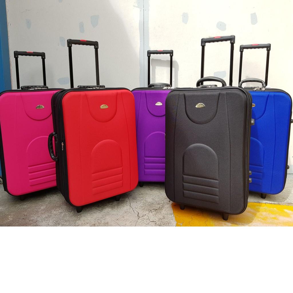 กระเป๋าเดินทาง 24 นิ้ว กระเป๋าเสื้อผ้า ทนทาน หน้าโฟม ถูกที่สุด [ BRM ] ล้อลาก ขนาด 24 นิ้ว ซิปใหญ่ มีคันชัก
