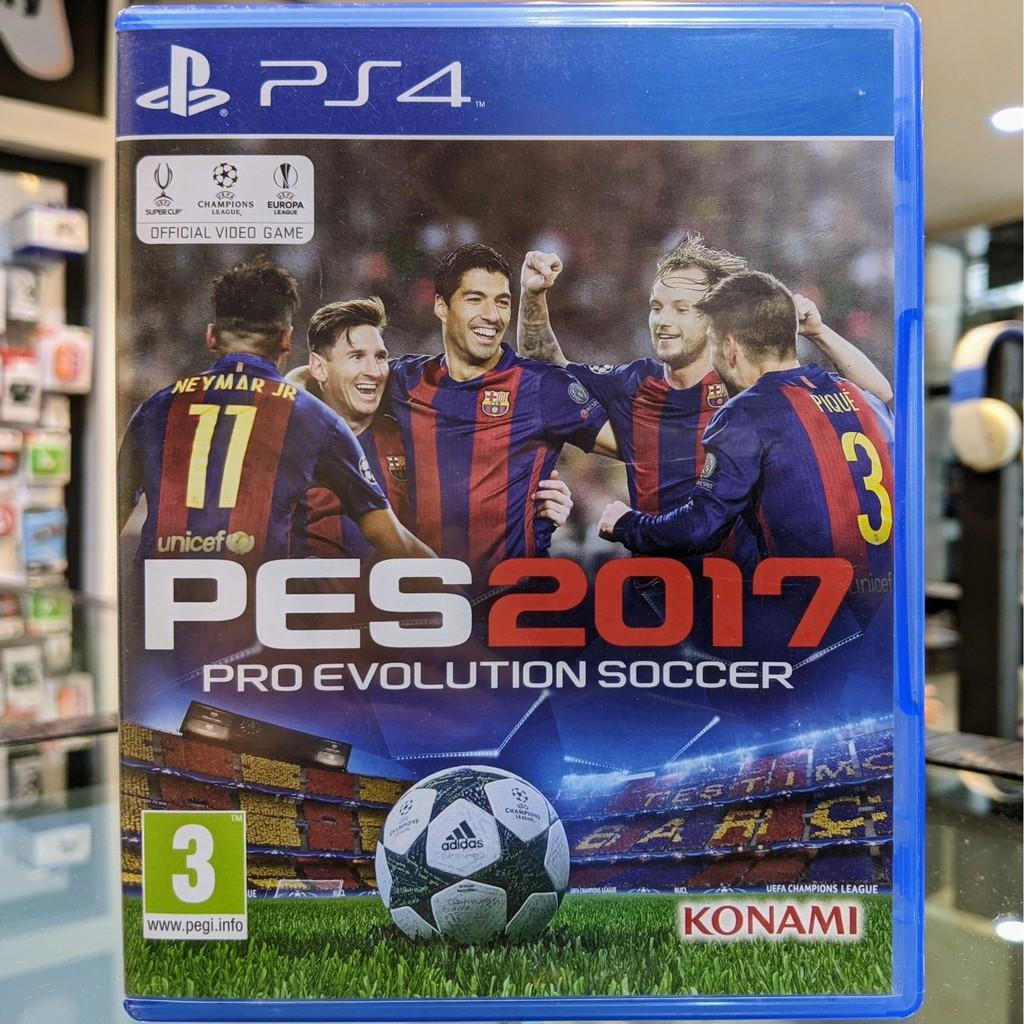 (ภาษาอังกฤษ) มือ2 PES 2017 แผ่นเกมPS4 แผ่นPS4 มือสอง (เกมเล่น2คนได้ เกมฟุตบอล Winning Eleven FIFA Pro Evolution Soccer)