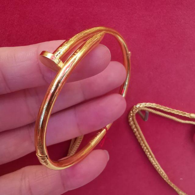##ซื้อเฮงใส่ดี  กำไลตะปูทอง 96.5%  น้ำหนัก 1 บาท ข้อมือ 16-18cm ใส่ได้  ราคา 30,550บาท