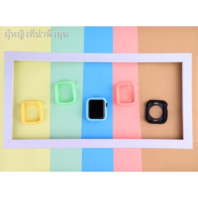 เคสยางซิลิโคนการ์ตูน ซิลิโคนครอบใสฮาร์ด caseเคส for Apple AirPods Suitable for Apple Watch 4/5 generation iwatch pure silicone color case 1/2/3 anti-drop soft shell applewatch half-pack TPU candy protective cover 40/44mm female model