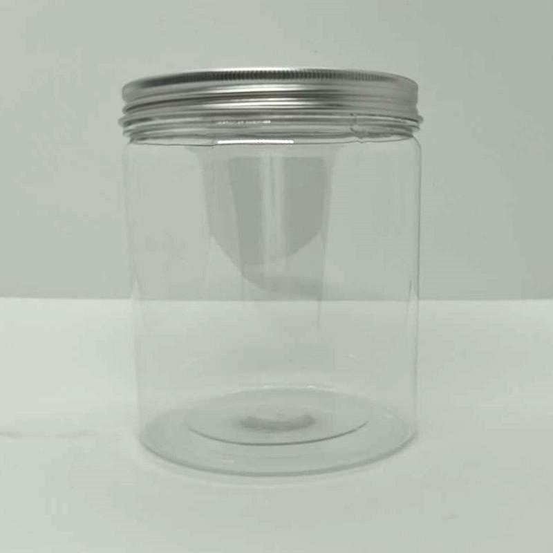 โหลพลาสติก ฝาอลูมิเนียม PET-1 (ฝาอะลูมิเนียมสีเงิน) กระปุกพลาสติกใส ฝาเกลียว