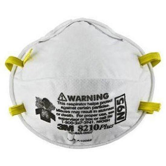 3M 8210 N95 Particulate Respirator หน้ากากป้องกันฝุ่นละอองมาตรฐาน N95 (20ชิ้น/1กล่อง)