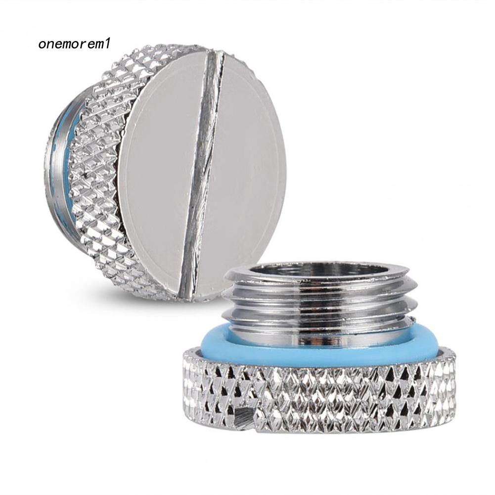 2Pcs Water Stopper Plug For Water Cooling Reservoir Acrylic G1//4 Thread Barrow