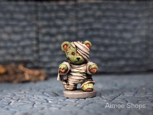 Resin Figure Kit Bear toy Unpainted Garage Resin Model Kit lo8h