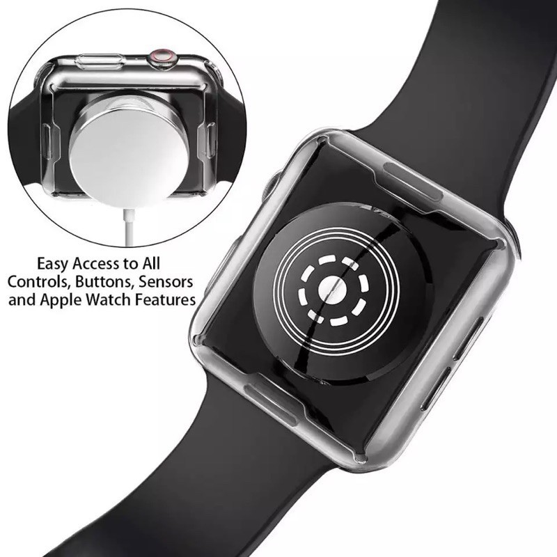 It's the new fashion▲เคส สำหรับ AppleWatch ขนาด 38 มม. 40 42 44 ซิลิโคนอ่อนนุ่มหุ้มใสสำหรับ iWatchSeries 5/4/3/2/1