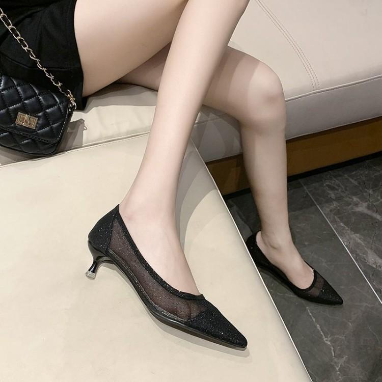🔥พร้อมส่ง🔥 รองเท้าส้นสูงเด็กผู้หญิง รองเท้าแตะเด็กรัดส้น รองเท้าเพื่อสุขภาพผู้หญิง รองเท้าคัชชูแฟชั่น