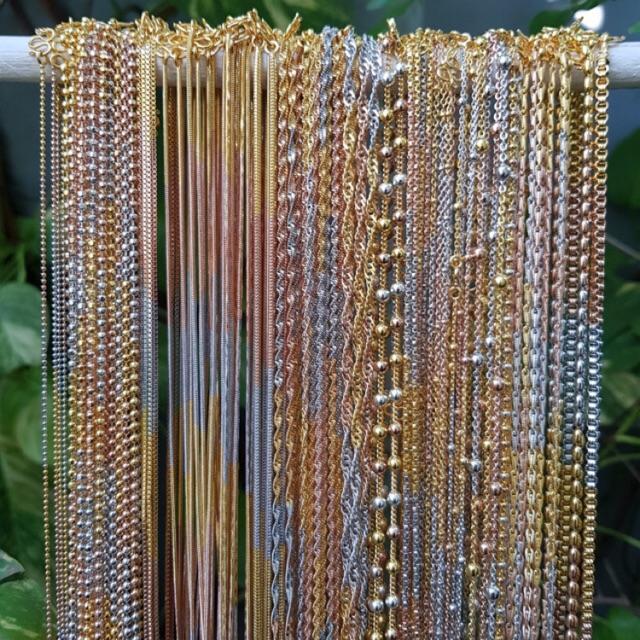 สร้อยอิตาลี 3กษัตริย์ หุ้มทองคำแท้ ทองไมครอน สร้อยคอทองชุบ ราคาโรงงาน ความยาว#16 -#22นิ้ว ขนาด1-4มิล