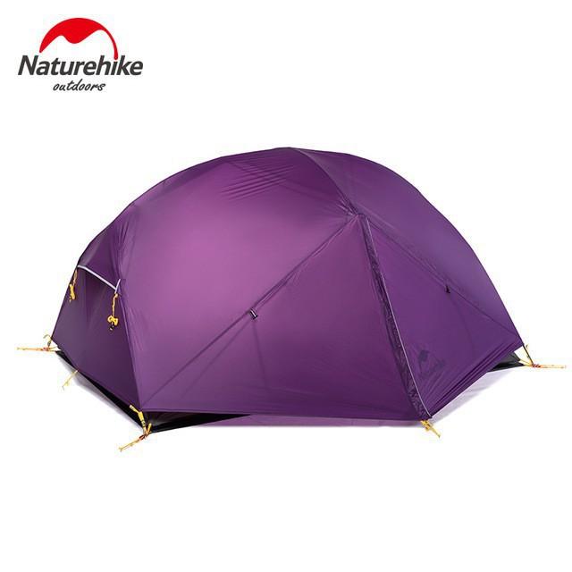 Naturehike Mongar 2 erson Caming Tent Ultralight Outdoor Hiking Dome Tent 2 Doors Cam Tent