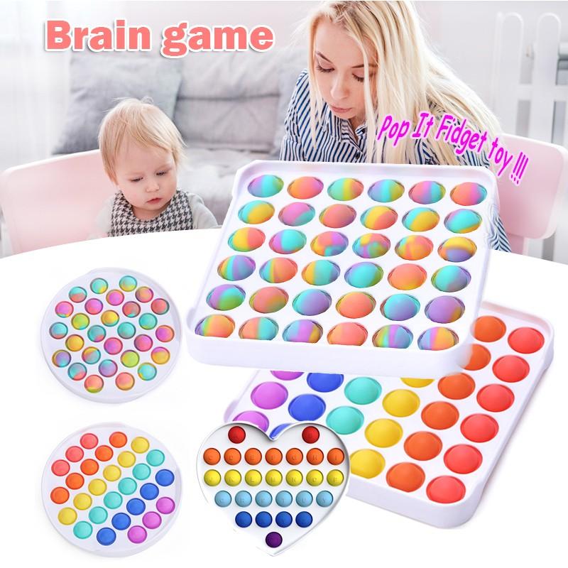 ของเล่นบีบลายพรางสีรุ้งสําหรับเด็กและผู้ใหญ่ pop it ของแท้ รุ้งของเล่น Push bubble Pop it fidget toy ของเล่นบับเบิ้ลSet4 พร้อมส่ง สีรุ้งสดใส ที่กดสุดฮิต ของเล่นกดบับเบิ้ล Pop it Push Pop Bubble เล่นได้ทุกวัย ยางกด คลายเครียดกด ป๊อปอัพ สีรุ้ง สําหรับเด็ก เ