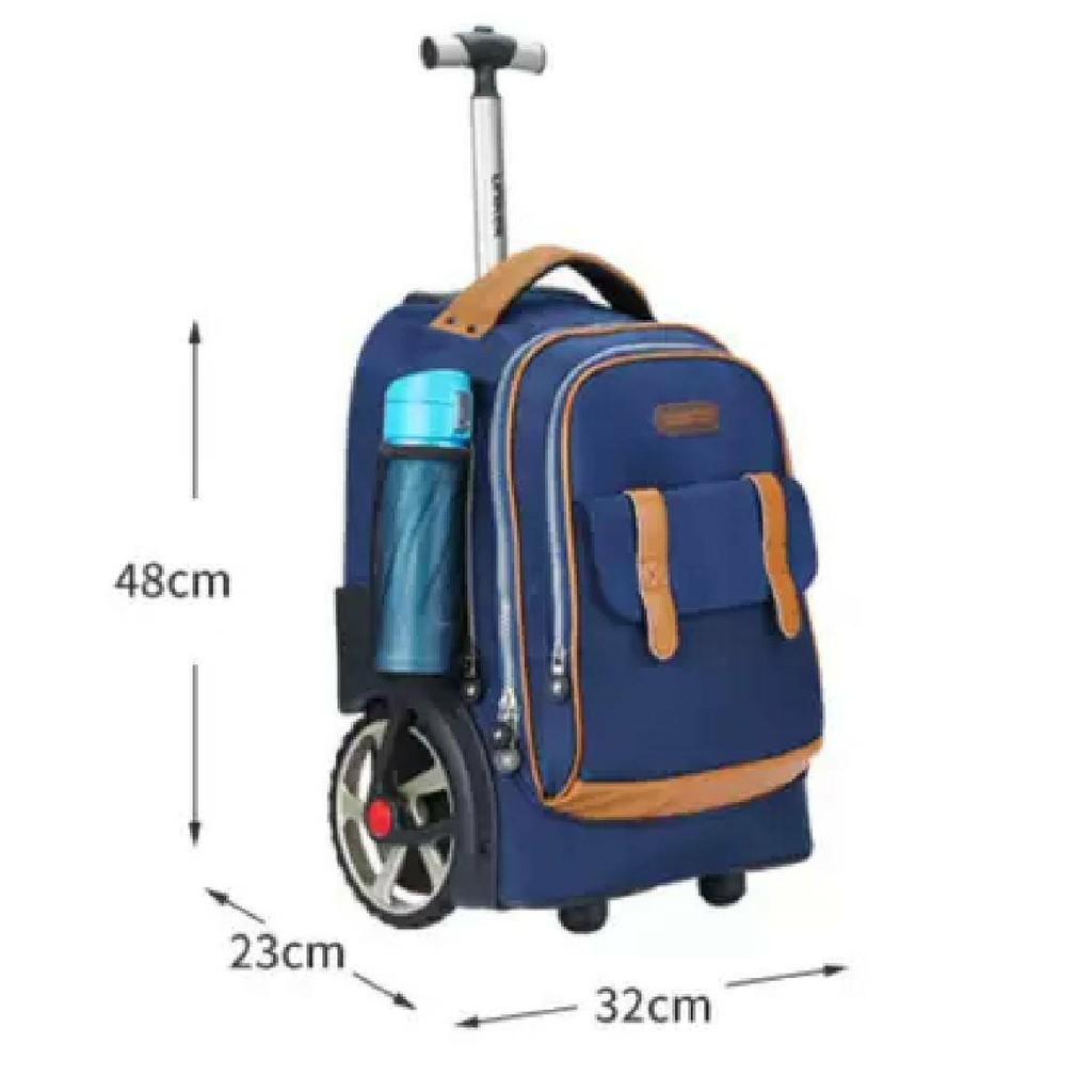 UNIKER กระเป๋านักเรียนล้อลาก 18นิ้ว (รุ่น Big Wheels) กระเป๋าเดินทางใบเล็ก ล้อลากใหญ่ ใส่ของได้เยอะ 8Qr0
