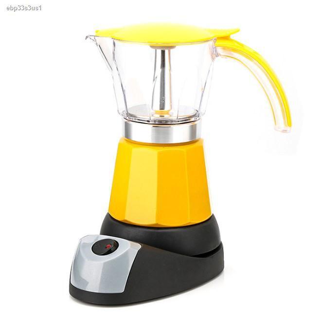 ◈✐หม้อต้มกาแฟสดแบบไฟฟ้า เครื่องทำกาแฟ มอคค่าพอทไฟฟ้า หม้อต้มชากาแฟ หม้อ Moka pot ไฟฟ้า