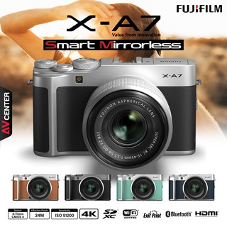 Fujifilm Camera X-A7 Kit 15-45 mm. (เมนู ENG)   [รับประกัน 1 ปี By AVcentershop]