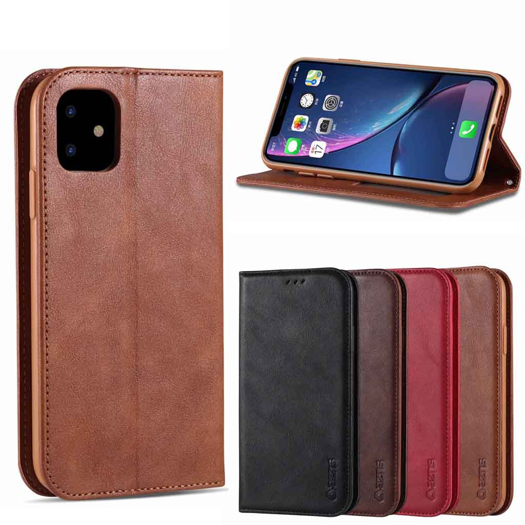 """Apple Iphone 11(6.1"""") 11Pro(5.8"""") 11Promax(6.5"""") 2019 Magnetic attraction Phone Cover Soft PU Leather Card Case"""