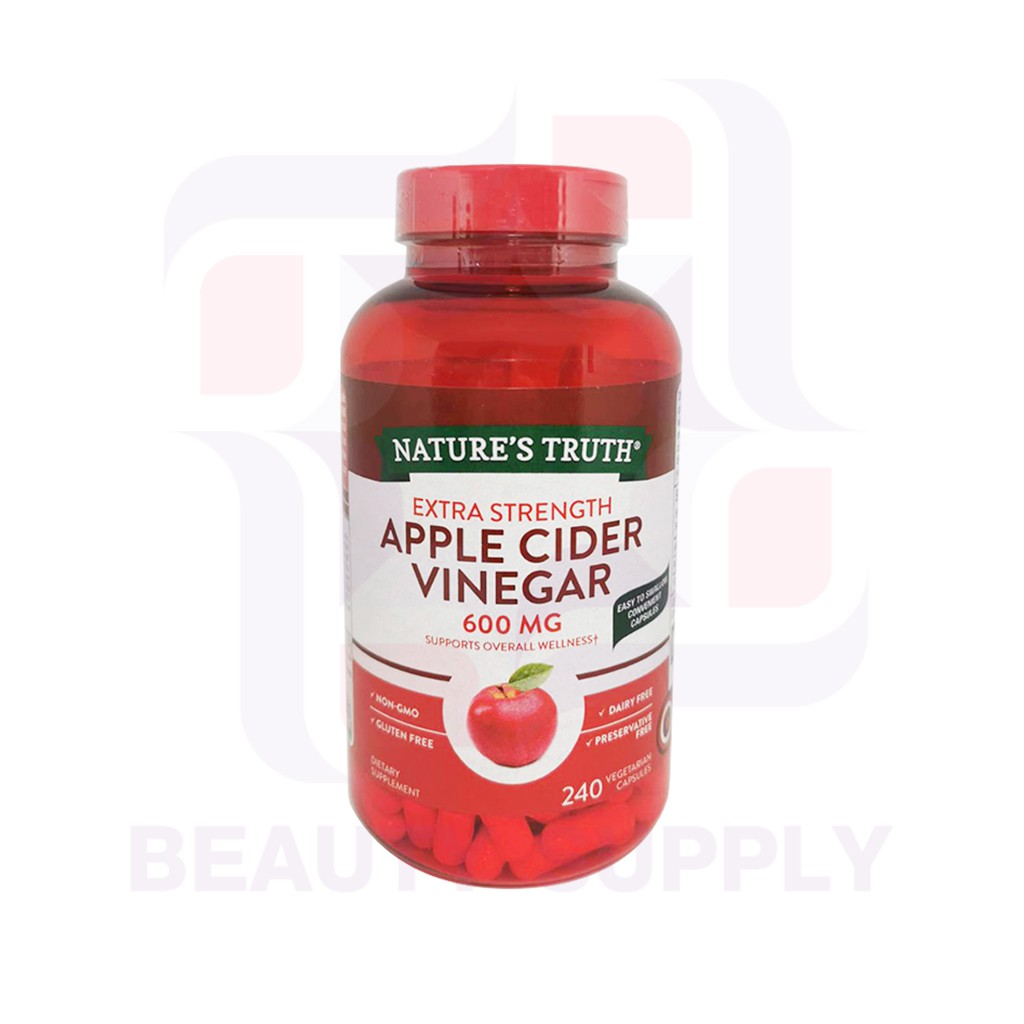 Nature's Truth Apple Cider Vinegar 600mg 240 Capsules