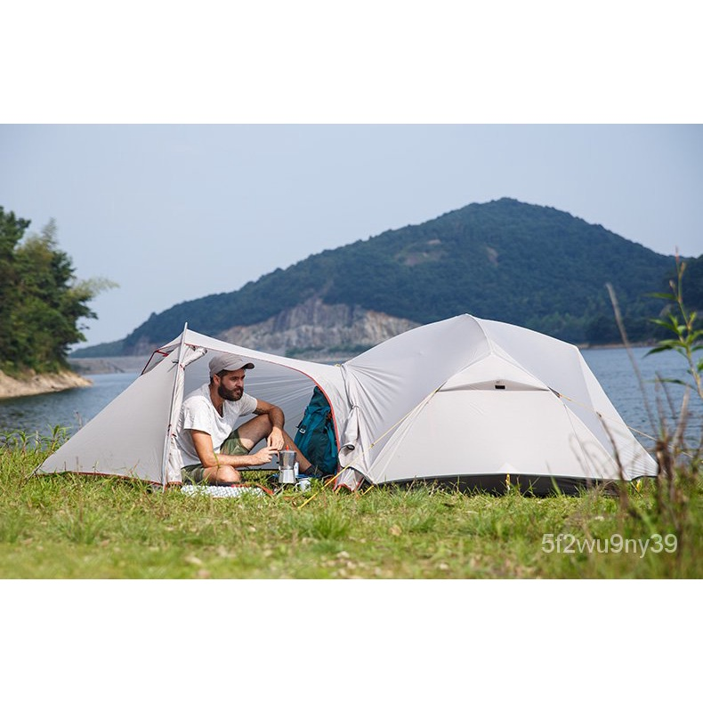 Naturehike Mongar 2 Caming Tent Double Layers 2 erson Waterroof Ultralight Dome Tent Vestibule y748