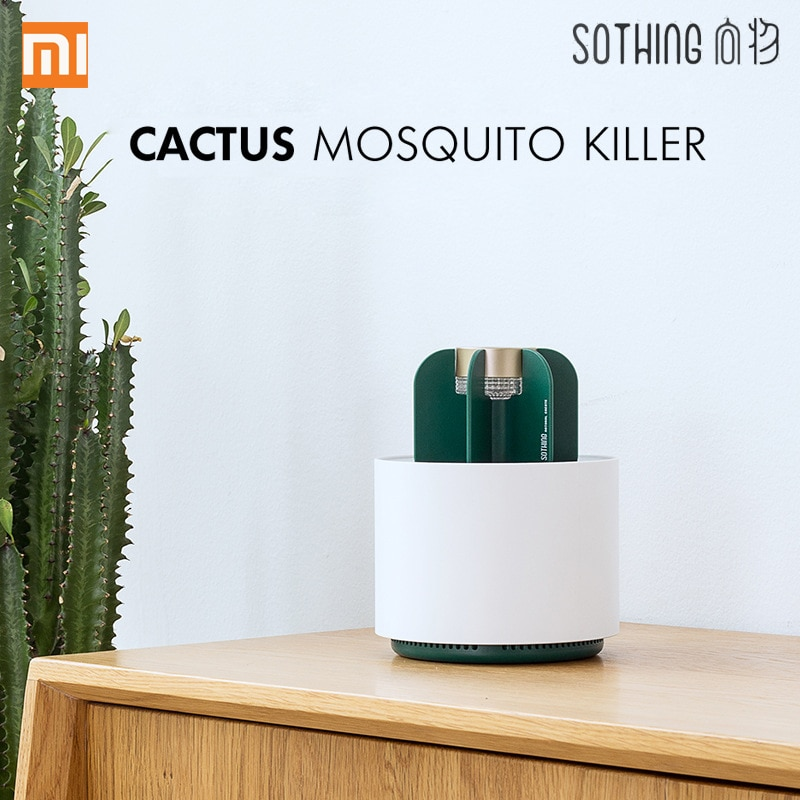 Xiaomi Sothing Mosquito Killer Lamp Portable Cactus USB Electric Mosquito-Repellent Insect Trap Light Smokeless Odorless Mute