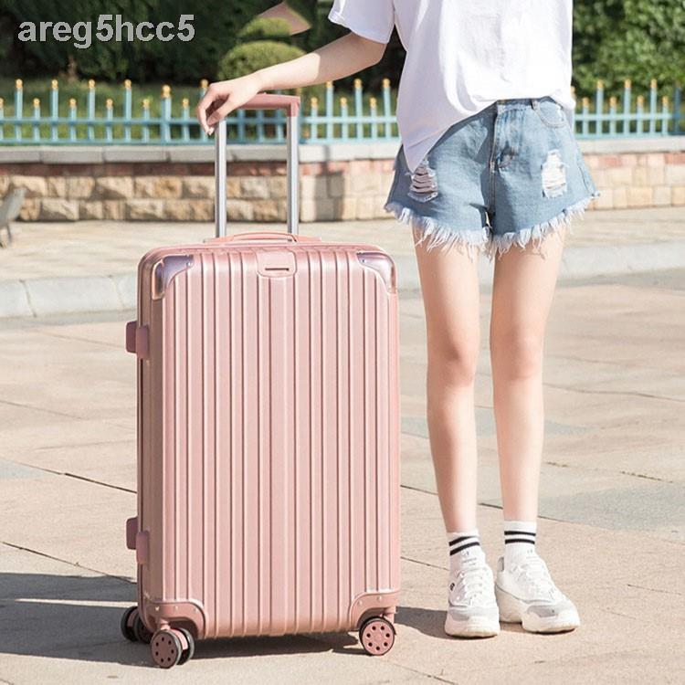 ❐▫△ทางเราจัดส่งได้ทันที Fashion กระเป๋าเดินทาง กระเป๋าเดินทาง20/24/26/28นิ้ว วัสดุหนา รุ่นซิป วัสดุABS+PCแข็งแรงทนทานแ