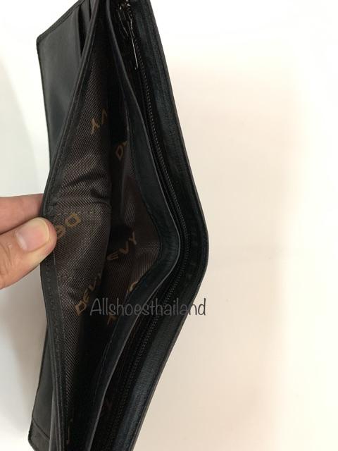 กระเป๋าสตางค์ Devy no. 107 หนังแท้ สีดำ และ สีน้ำตาล QSg41