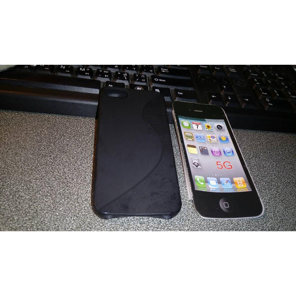 เคส Iphone 5 5s มือสอง เคสหลังแบบนิ่ม ตำหนิเปื้อนกาว พร้อมส่ง