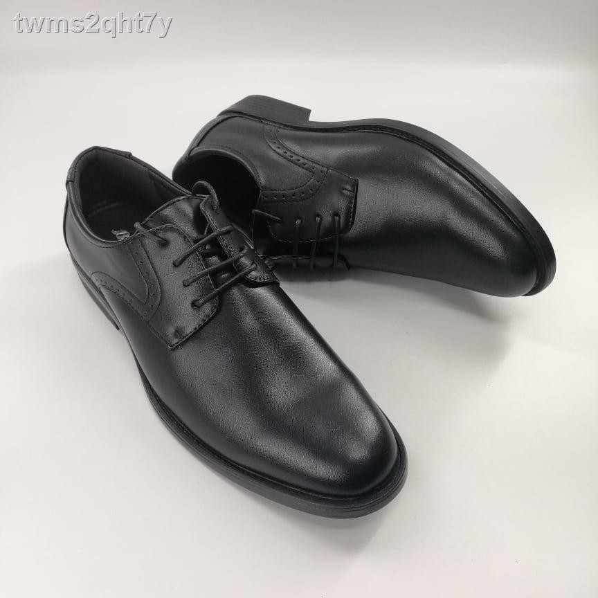 🔥【ร้อน】🔥✓✐(4112-6112) Bata รองเท้าหนังคัชชูผู้ชายบาจาสีดำ, เบอร์ 5-11 (38-46) รุ่น 821-4112, 821-6112