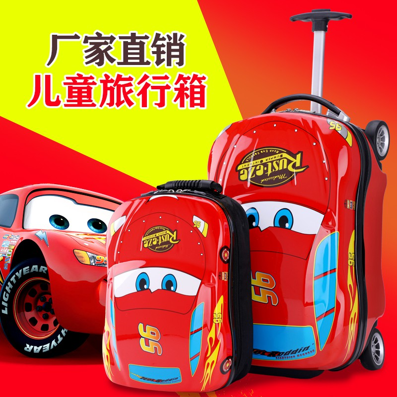 ≧ヰกระเป๋าเดินทางเด็ก  กระเป๋ารถเข็นเดินทางรถเข็นเด็กกระเป๋าเดินทางเด็ก 18 นิ้วการ์ตูนกระเป๋าเดินทางรถเด็กสามารถนั่งและนั