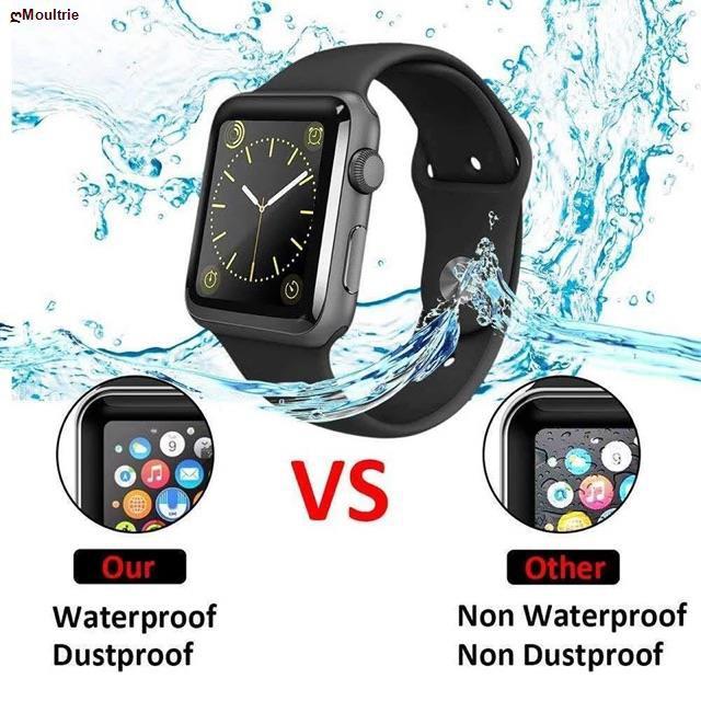 Moultrie☼ฟิล์มกระจกนิรภัย 3D ลงโค้ง สำหรับ applewatch Series 6 SE /5 4 / 3 2 1 1ฟิล์มกระพลาสติก 38MM 40MM 42MM 44MM