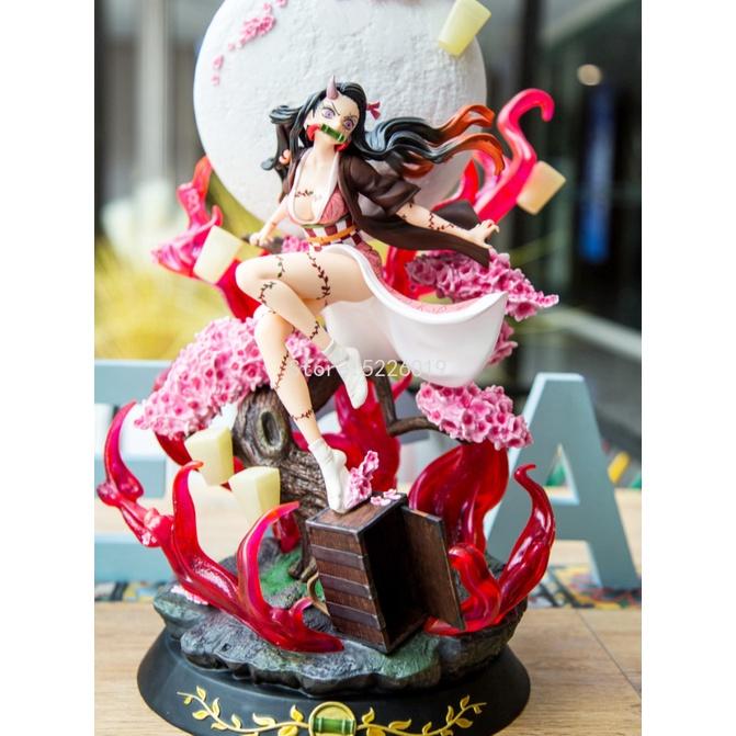 ☏รูปการ์ตูน Demon Slayer GK Demon Transformation Kamado Nezuko ระเบิดเลือด Ver. Action Figure Model Statue Collection ขอ