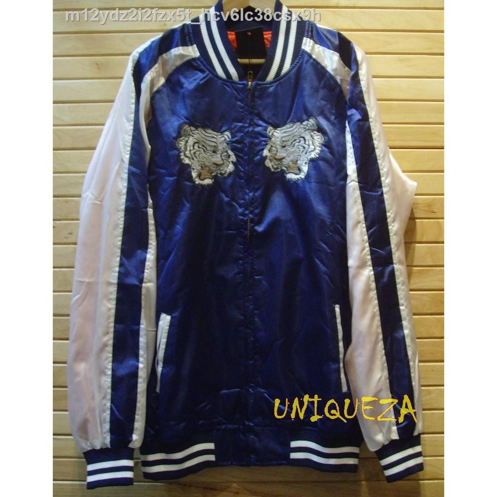 【มีสินค้า】✟✿เสื้อแจ็คเก็ตแจ็คเก็ตตากล้องซูกาจัน Sukajan Japan Tiger Embroidered Embroidery Jacket ปักลายเสือหน้า - หล