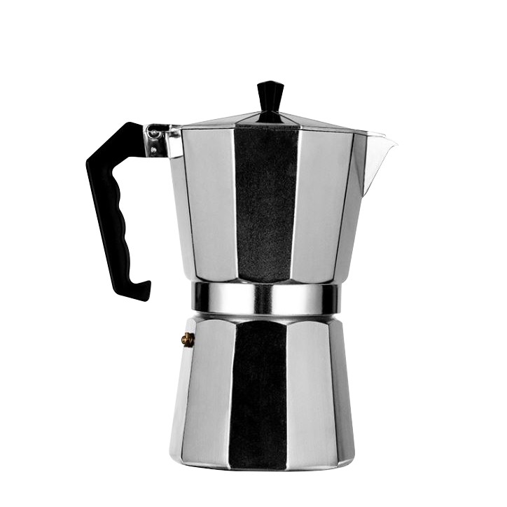 ✅✅✅หม้อต้มกาแฟอลูมิเนียม  Moka Pot  กาต้มกาแฟสดแบบพกพา เครื่องชงกาแฟ เครื่องทำกาแฟสดเอสเปรสโซ่ ขนาด 3 ถ้วย 150 มล.✅ vVKo