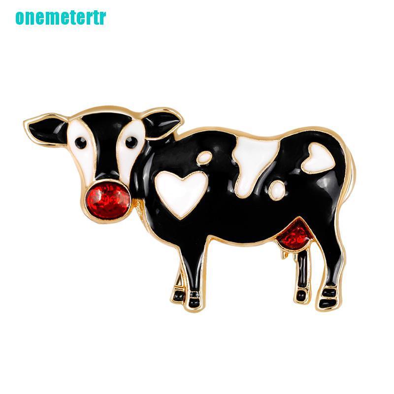 Cartoon Cow Enamel Brooch Pin Banquet Weddings Brooch Gifts Women Jewelry/_TI